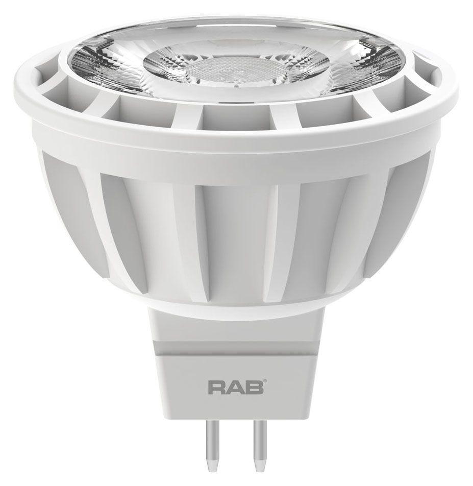 RAB MR16-6-927-25D-DIM RAB 6.5W MR16 2700K 420 LUMEN 25DEG 12V DIMMABLE LED LAMP