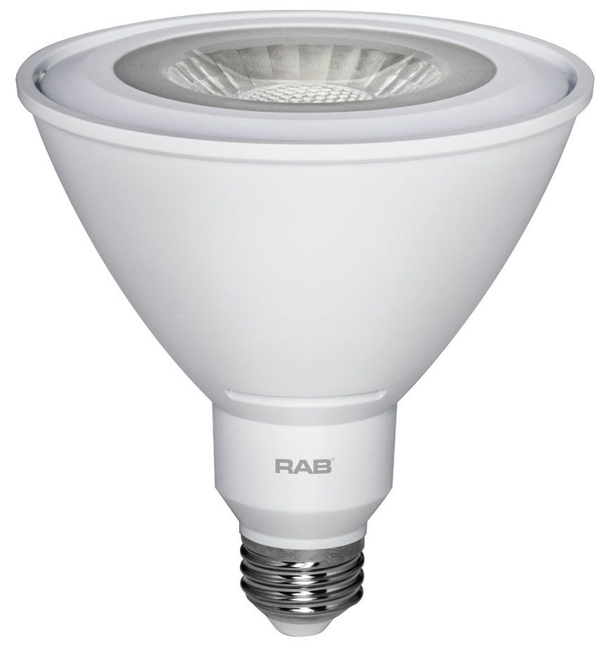 RAB PAR38-15-830-40D-DIM RAB 15W PAR38 3000K 1050 LUMEN 40DEG MED BASE DIMMABLE LED LAMP