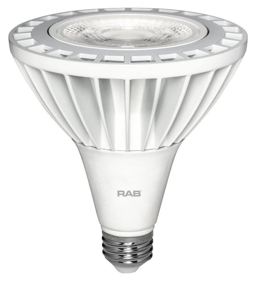 RAB PAR38-26-930-40D-ND RAB PAR38 26W 3000K 2400 LUMEN 40DEG MED BASE NON-DIMMABLE LED LAMP
