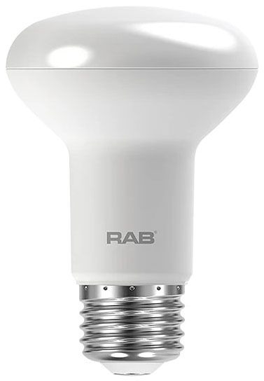 RAB R20-7-850-DIM RAB 7W R20 5000K 525 LUMEN MED BASE DIMMABLE LED LAMP
