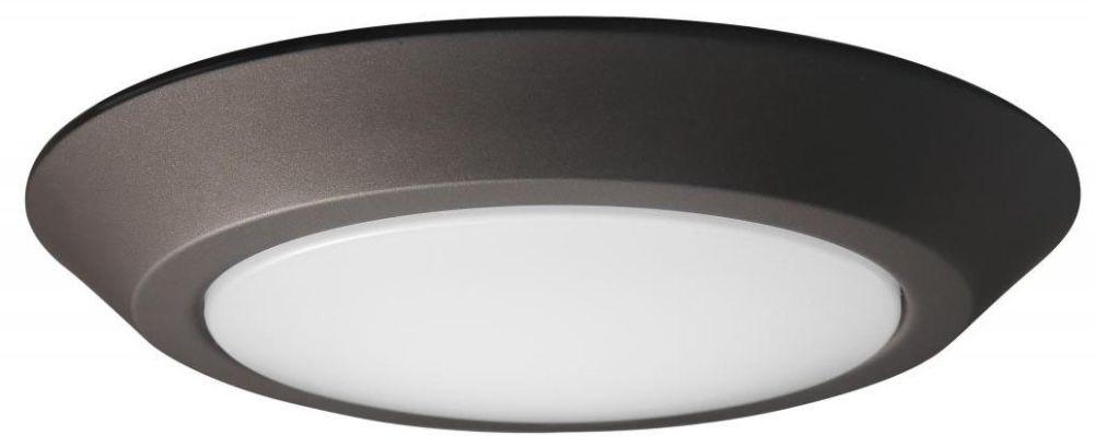 "SAT 62-1263 7"" Bronze LED Flush Round Disk Light 16.5w 120v 3000K 1000Lm Wet Loc Rated"