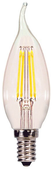 sat S29867 SAT 4W CFC 5000K 350 LUMEN DIMMABLE CAND BASE 120V LED LAMP