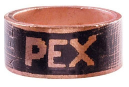 "Tomahawk PowerPEX® 1/2"" ASTM F1807 Annealed Copper Crimp Ring for PEX SDR9 Pipe/PEX"