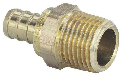 "3/4"" PEX x Mip Adapter Brass Crimp (46340)"
