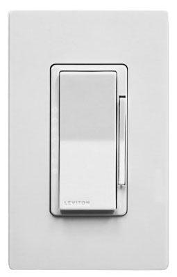 LEV DW1KD-1BZ Wi-Fi 1000W DIMMER Decora Smart works w/Amazon Alexa & Google Assistant No Hub Reqd w/ Wht & Lt Almnd Faces use w/LED CFL & Incandescent loads