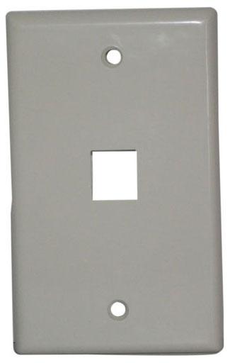 IDL 89-741WH 1 PORT KEYSTONE FACEPLATE-WHIT