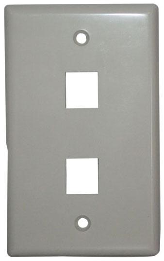 IDL 89-742WH 2 PORT KEYSTONE FACEPLATE-WHIT