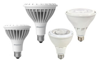 (74794) S-LED25PAR38HODIM850FL40WRP 25W 5000K 120V MEDIUM (E26) BASE DIMMABLE LED PAR38 LAMP 2650 LUMENS 25,000 HOUR AVERAGE RATED LIFE