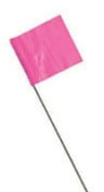 15in Pink Stake Flags 10pcs - Marking Supplies