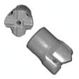 Rock Bit 2-1/4 in Carbide Tip H Thread - Rock Bits