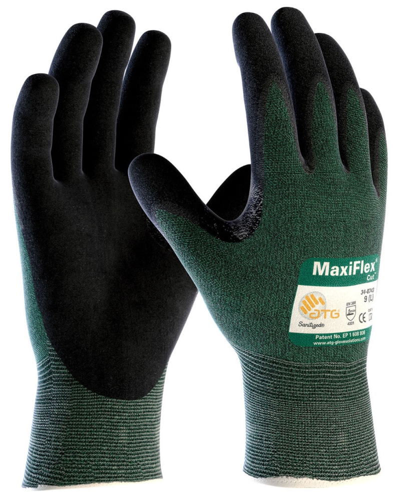Glove-Nitrile Coated Palm Medium - Gloves