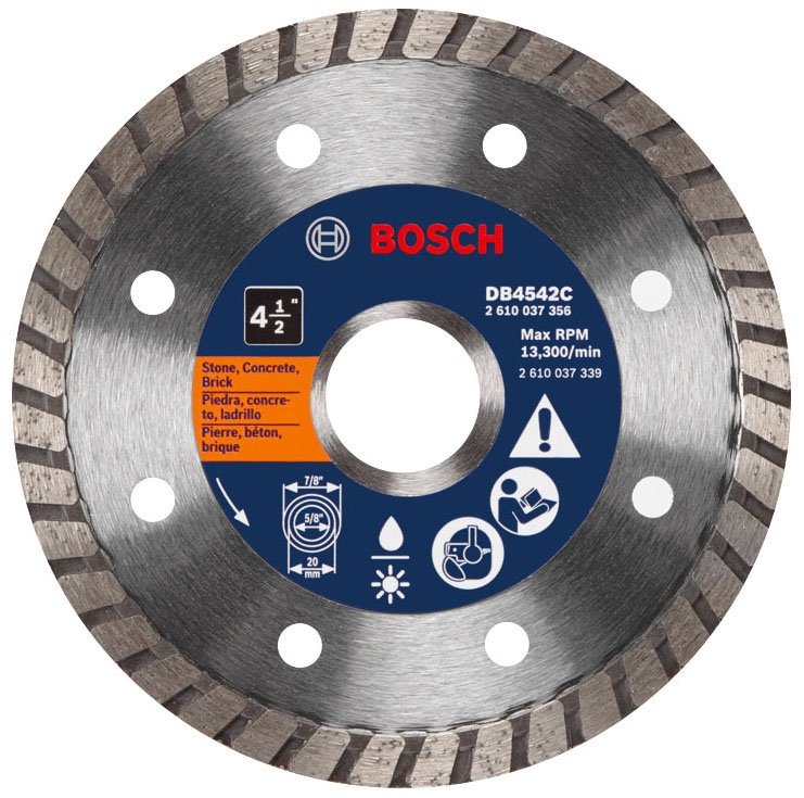 Diamond Blade-4.5in Prem Turbo w/Clam - Cutting