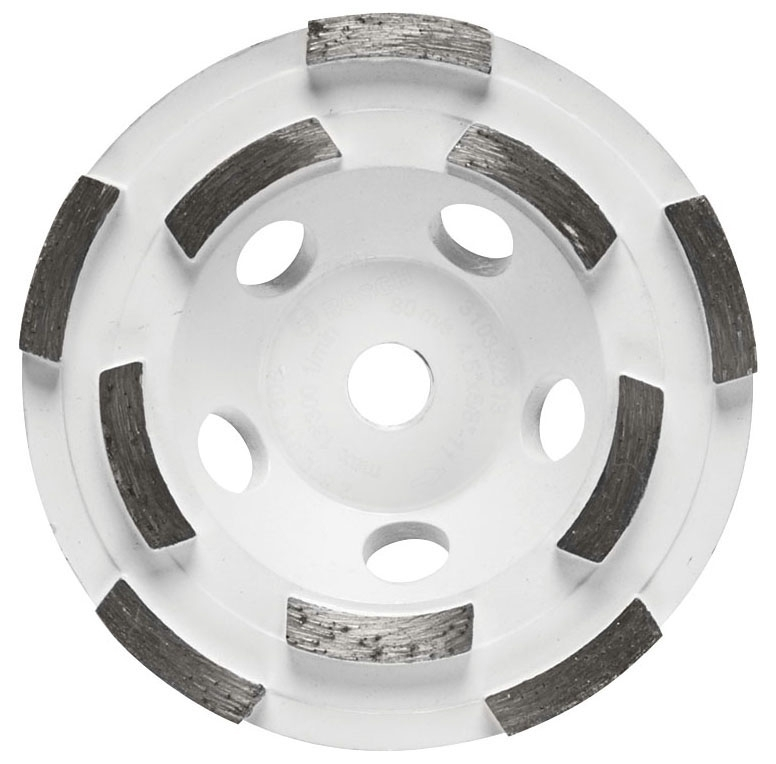 Cup Wheel-4.5in Double Row Diamond - Grinding