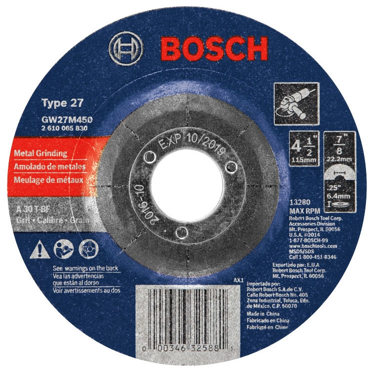 Abrasive Wheel - 4-1/2in 30G - Grinding
