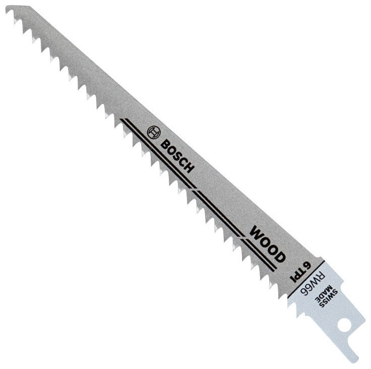 Recip Saw Blade-6in 6T Wood 5/Pk - Reciprocating