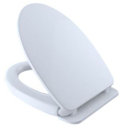 ELONGATED PLASTIC SEAT SOFT CLOSE WHITE
