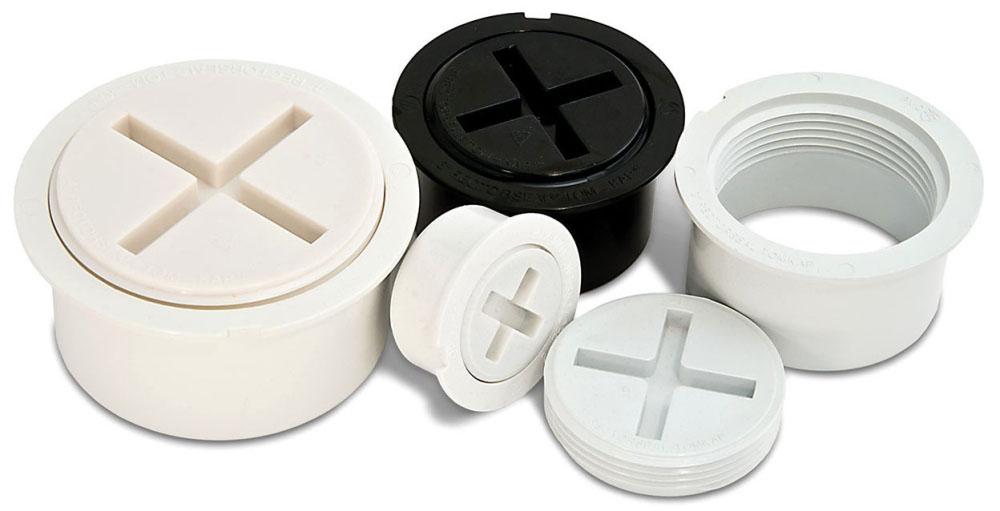 "RectorSeal Tom-Kap™ Cleanout Adapter and Plug (24 per Case), 3"" NPT, PVC, Flush-Fit"