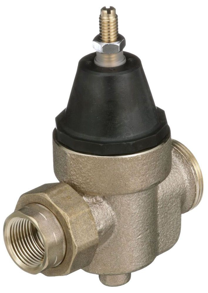 """Watts 3/4"""" x 3/4"""" Cast Copper Silicon Pressure Reducing Valve, Water, Diaphragm Actuation, Union FPT x FPT, Lead-Free, 400 PSI"""
