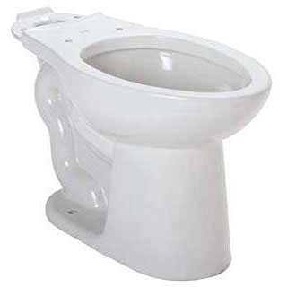 "16-3/8"", 12"" Rough-In, 1.28 GPF, White, Vitreous China, 2-Piece, Elongated, Round Front, Dual Fed Siphon Jet Action, Toilet Bowl"