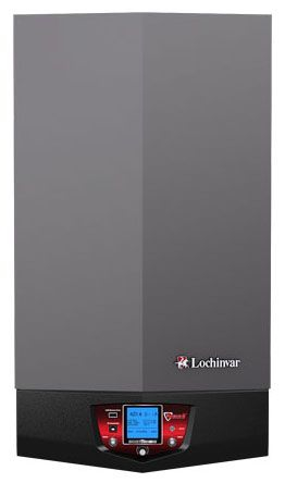 "Lochinvar Knight® Stainless Steel Fire Tube Boiler, 1-1/2"" Supply/Return, 79.8-399 MBH, 94% Thermal Efficiency, Natural Gas, Wall Mount, Induced Draft or Direct Vent"
