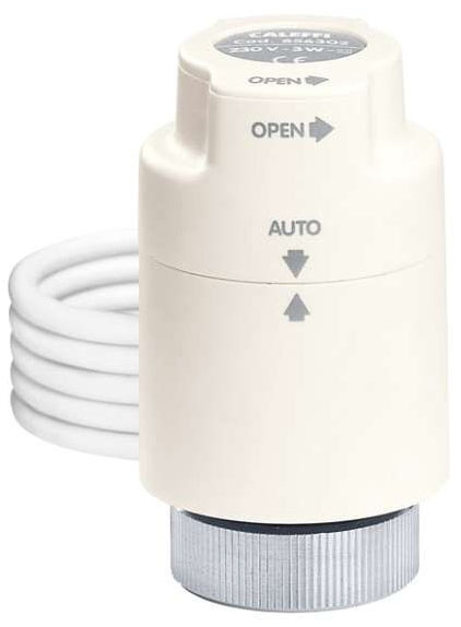 Caleffi Twistop Zone Valve Actuator with Micro Switch, 24V AC/DC