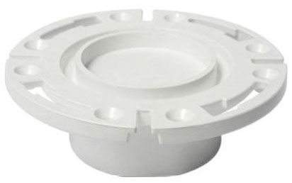 "Closet Flange, 4"" ID x 3"" Hub, PVC, 1-Piece, Flush to Floor"