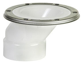 "Closet Flange, 3"" x 4"", PVC, Flush to Floor"