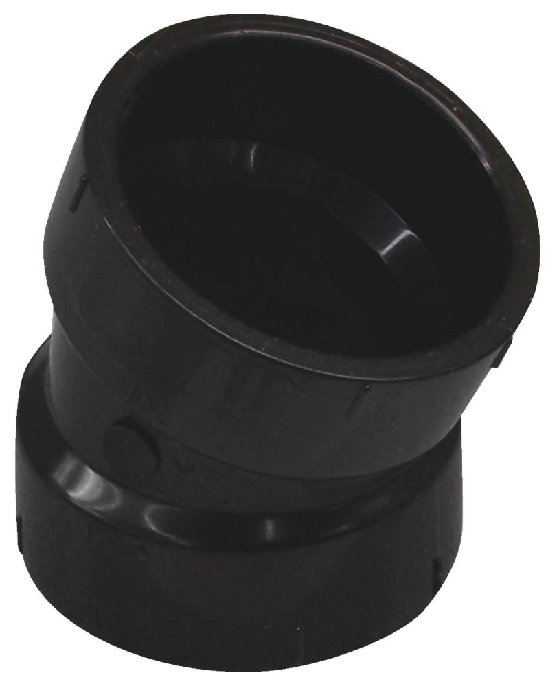 "1-1/2"" ABS 22-1/2 Elbow (02899)"