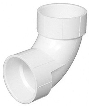 "4"" PVC Long Turn Street 90 Elbow (P309-040)"