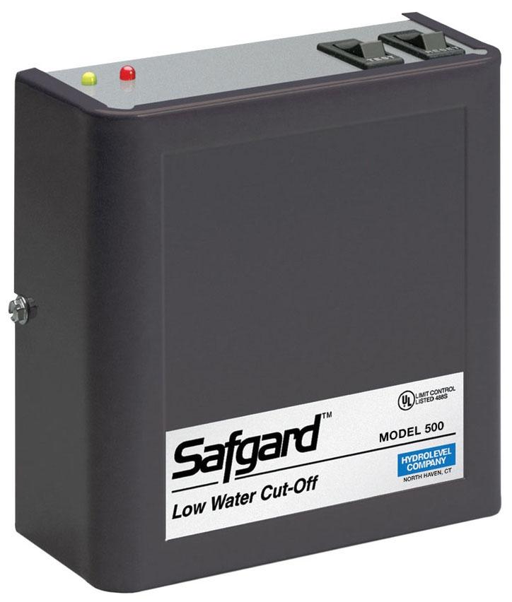 Hydrolevel Safgard™ Boiler Low Water Cut-Off with Manual Reset, 120 VAC 60 Hz, 4 VA, 160 PSI, SPDT, Water Media