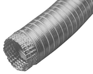 "4"" x 8' Aluminum Flexible Pipe (Mf4)"