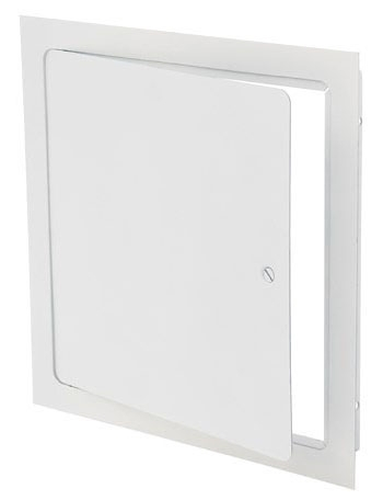 """Elmdor Stoneman Dry Wall Access Door, 18"""" x 18"""", White Prime Coated, 16 Gauge Galvannealed Steel, Screwdriver Operated Latch, Wall/Ceiling Mount, 1-Piece, Square"""