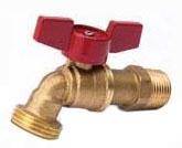 """3/4"""" Mip Boiler Drain Hose Bibb 1/4 Turn"""