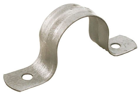 "1-1/4"" 2-Hole Pipe Strap Galvanized"