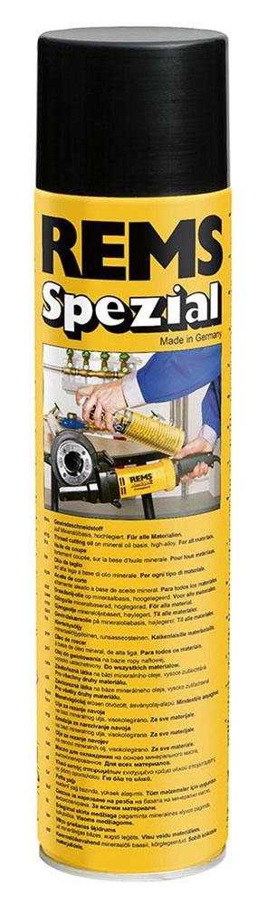 REMS Tools Brownish Thread-Cutting Spray Oil, 600 ML Spray Bottle, 0.758 g/Cu CM, Aerosol, High-Alloyed Mineral