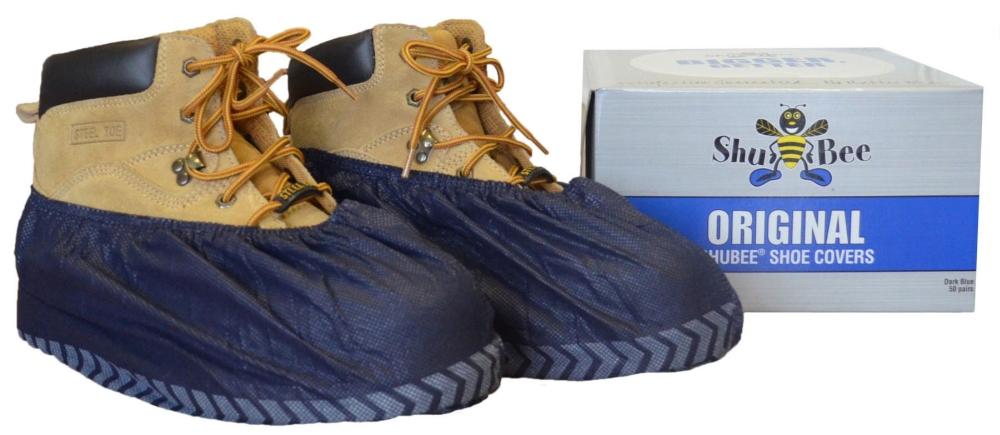 Shubee Original Shoe Covers, Dark Blue - 50 Pairs