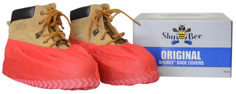Shubee Original Shoe Covers - Red (50 Pair/Box)