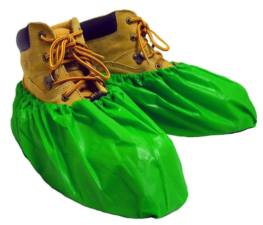 Shubee Waterproof Shoe Covers - Green (40 Pair/Box)