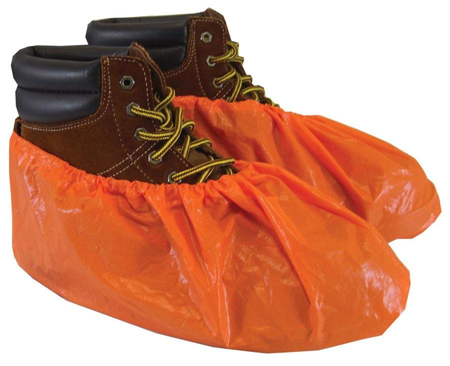Shubee Waterproof Shoe Covers - Orange (40Pair/Bx)