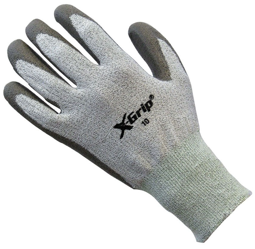 Shubee X-Grip Gloves - Grey - Size: Large
