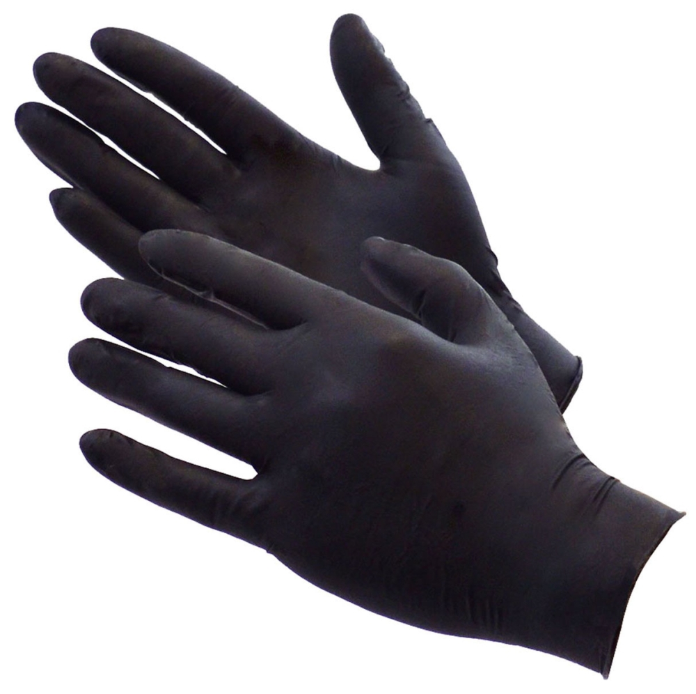 Shubee Black Gauntlet Nitrile Glove - Size: XL (100/Box)