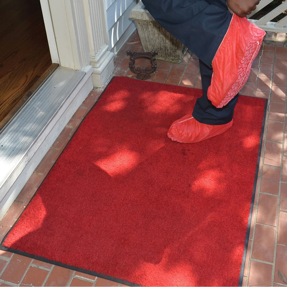 ShuBee Rug, 3' x 4', Red, Thick Vinyl