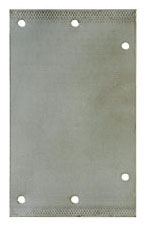 "Tomahawk Pipe Shield Plate, 3-1/2"" x 6"", 6-Hole"