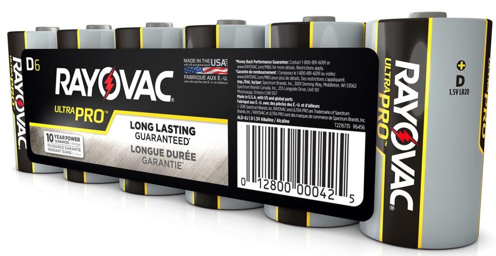 D Alkaline Batteries 6 Pack