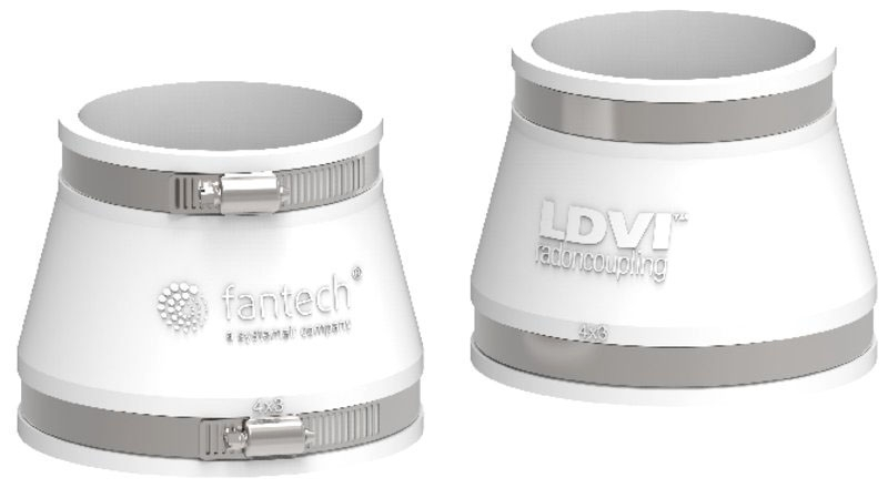 """Fantech 4"""" x 3"""" LDVI Low Noise & Vibration Couplings (Priced per each)"""