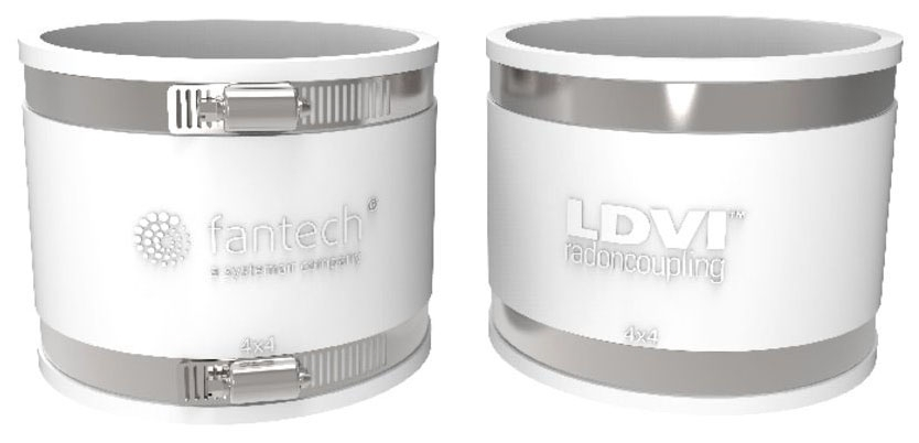 "Fantech 4"" x 4"" LDVI Low Noise & Vibration Couplings (Priced per each)"