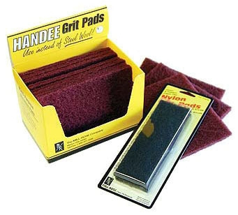 """Clean-Fit Products Abrasive Pad (10 per Display Carton), 6"""" x 4"""", Fine Aluminum Oxide Grit, Maroon, Nylon"""