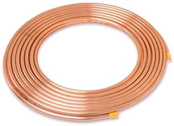"""3/8"""" OD x 50' Copper Refer Tube Coil"""