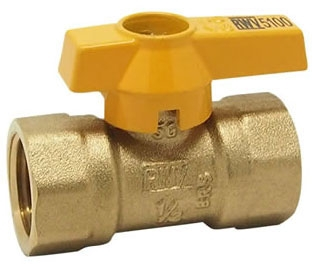 "Red-White Valve 1/2"" x 1/2"" Brass Ball Valve, Lever Handle, 1-Piece, Standard, FPT x FPT, Chrome Plated, 175 PSI"