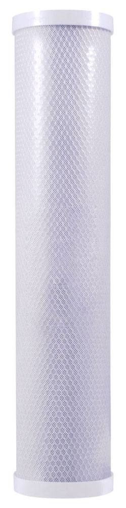 "Watts Water Filter Cartridge, 4-5/8"" x 20"", 5 Micron, 8 GPM, Lead-Free, Carbon, Sediment, Chlorine, Taste, Odor"